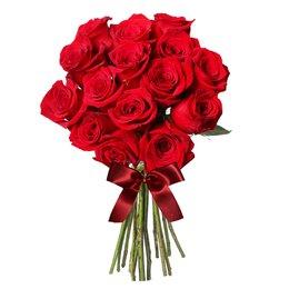 Buquê de 15 Rosas Colombianas Vermelhas