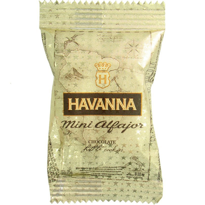 Mini Alfajor de Chocolate Recheado de Doce de Leite