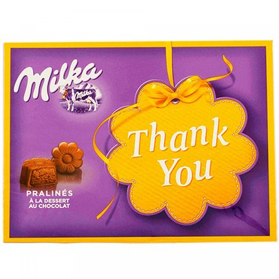 Bombons de Chocolate Milka Thank You 120g