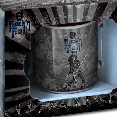 Caneca Porcelana Rock Roll