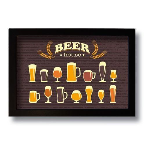 Quadro Decorativo Vintage Beer House  33x43 cm