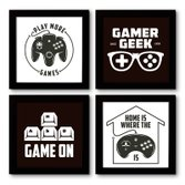 Quadro Decorativo Composê 40x40 Cm Game Geek