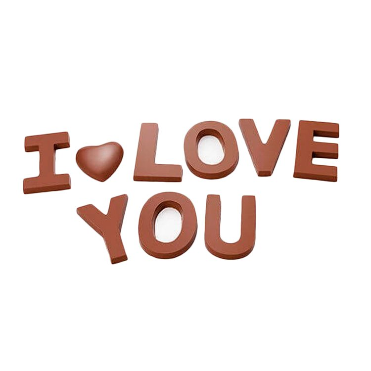 Letras I Love You Chocolat du Jour