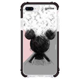 Capa Anti Impacto Ultra Preta iPhone 8 Plus - Mickey Tricolor Marketplace da Giu